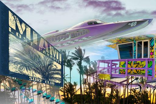 Simone MONNEY - Print-Multiple - Miami beach club