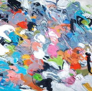 Christa SCHMID-EHRLINGER - Painting - Augen - Blick 1