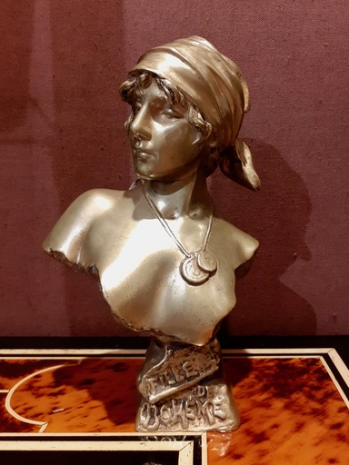 Emmanuel VILLANIS - 雕塑 - Fille de Bohème
