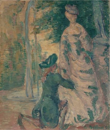 Emile Henri BERNARD - Painting - Scène galante