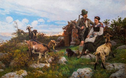 Otto WEBER - Painting - IDILLIO