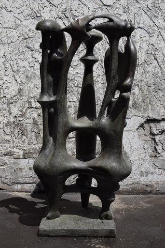 Augustin CARDENAS - Skulptur Volumen - Composition aux trois formes