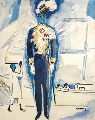 Kees VAN DONGEN - Zeichnung Aquarell - L'Ambassadeur d'Haïti, le Dr Auguste Casséus