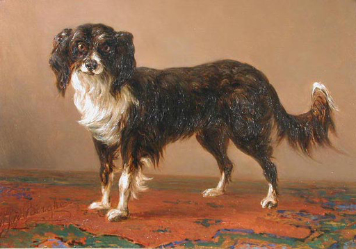 Willem Jan VAN DEN BERGHE - Pintura - Portret of a dog