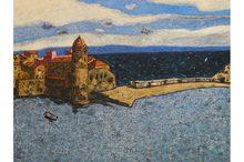Vincent BIOULES (1938) - Collioure. La Tramontane