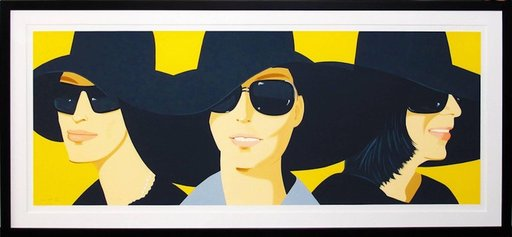 Alex KATZ - Grabado - Black Hats 4
