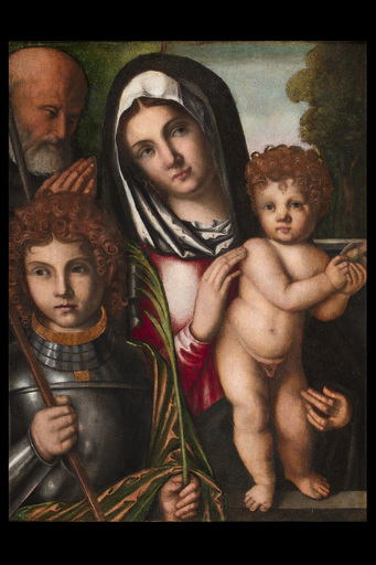 Francesco ZAGANELLI - Painting - Holy Family