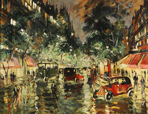 Konstantin A. KOROVIN, Rainy Night in Paris