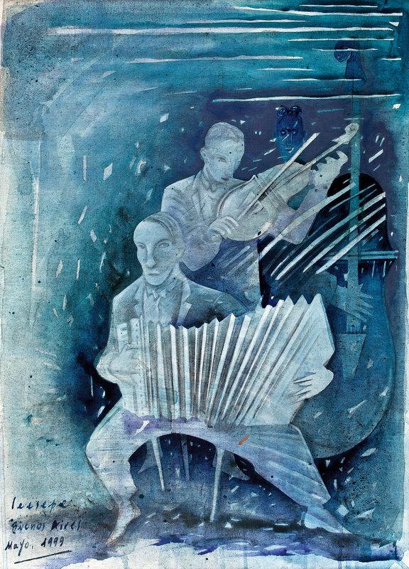 Carlos CEESEPE - Painting - Músicos