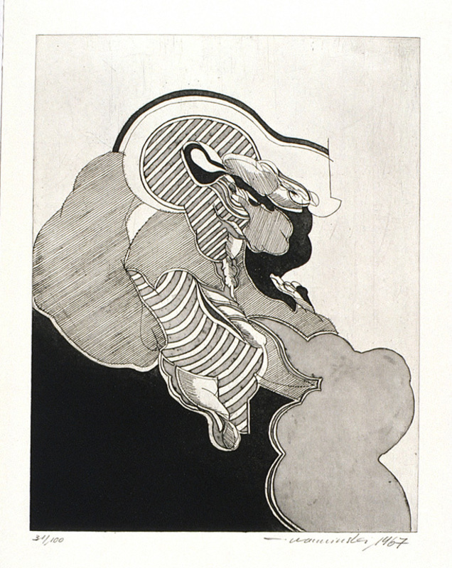 Eckard WARMINSKI - Estampe-Multiple - Abstrakte Komposition