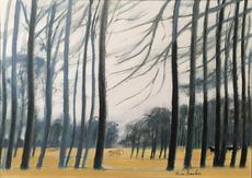 André BRASILIER - Painting - Paysage d'Anjou