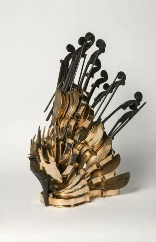 Fernandez ARMAN - Escultura - Cascade de violon