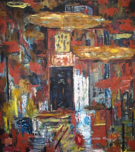 Juan FERNANDEZ LACOMBA - Pintura - Lluvia de barro