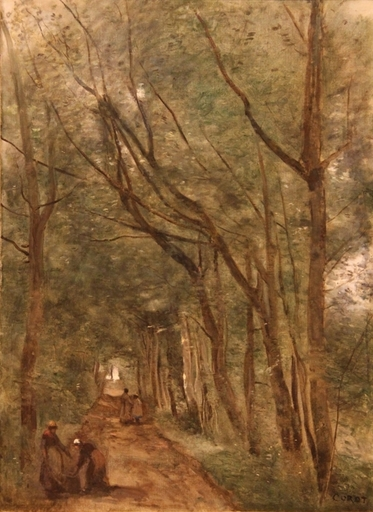 Camille Jean-Baptiste COROT - Painting - Coubron