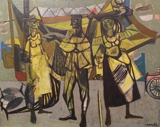 Gustave CAMUS - Pintura - Les pêcheurs (ca.1949)