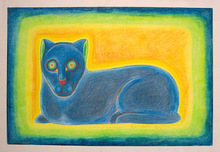 "Beniamino Benvenuto BUFANO (1898-1970) - ""Press Club Cat"""