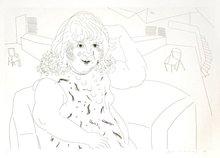 大卫•霍克尼 - 版画 - Ann in the Studio