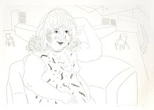 David HOCKNEY - Grabado - Ann in the Studio
