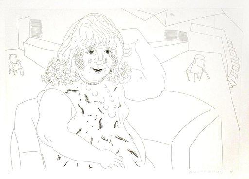 David HOCKNEY - Print-Multiple - Ann in the Studio