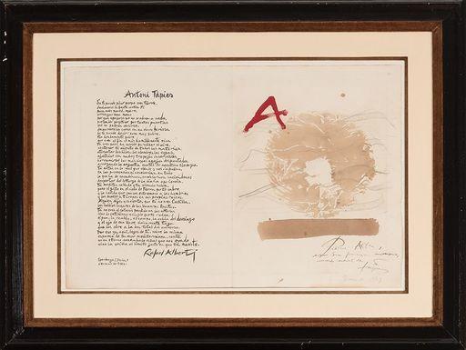 Antoni TAPIES - Zeichnung Aquarell - PARA ALTEA (RETORNOS DE LO VIVO LEJANO)