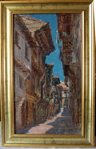 Henri VIGNET - Painting - Pays Basque: Fontarabie