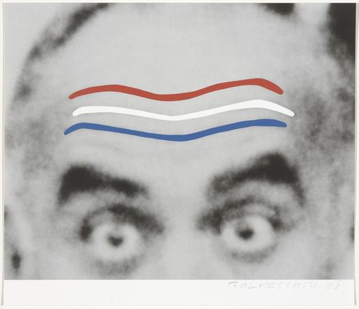 John BALDESSARI - Print-Multiple - Raised Eyebrows/Furrowed Foreheads (Red, White, and Blue) fr