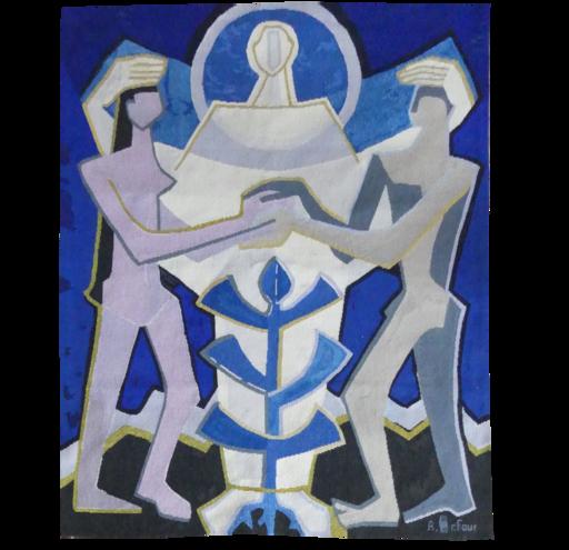 Francesca GUERRIER - Tapestry - Adam et Eve