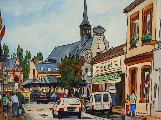 Joël FOUGMAN - Peinture - Marché de Maintenon