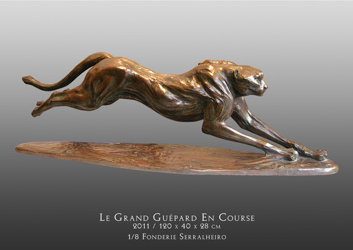 Hadrien DAVID - Escultura - Le grand guépard en course