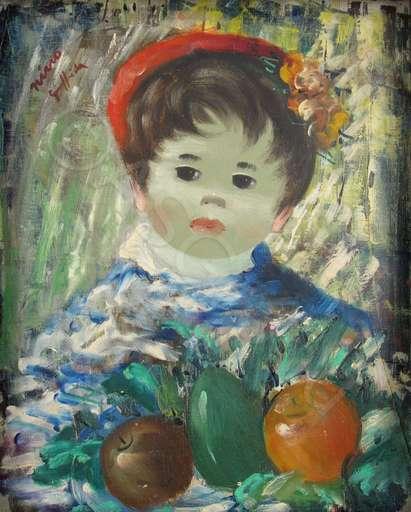 Nino GIUFFRIDA - Painting - Knabe mit Früchten - Ragazzo con frutta