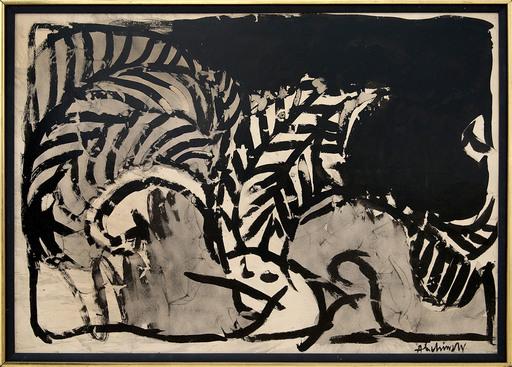 Pierre ALECHINSKY - Pittura - Le chapeau du serpent a plumes