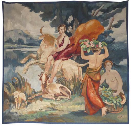 André MARE - Tapestry - l'enlèvement d'Europe