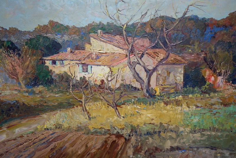 Fernand VAN DEN BUSSCHE - Painting - la Ferme Provençale