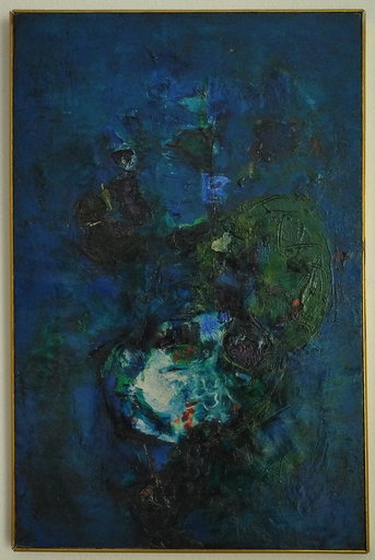 Renato BIROLLI - Pintura - Composizione Blu