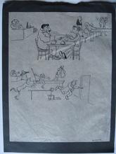 Oswald HEIDBRINCK - Dibujo Acuarela - LE BAR
