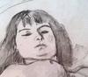 Jules PASCIN - Dibujo Acuarela - Francoise