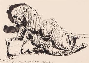 André MASSON - Dibujo Acuarela - Chimère