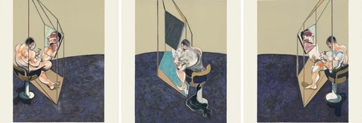 Francis BACON - Grabado - Three Studies of a Male Back