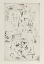 Pablo PICASSO (1881-1973) - Nature morte à la bouteille de marc