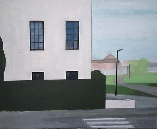 Vivi HERREBOUDT - Painting - Neighbourhood 1    (Cat N° 7172)