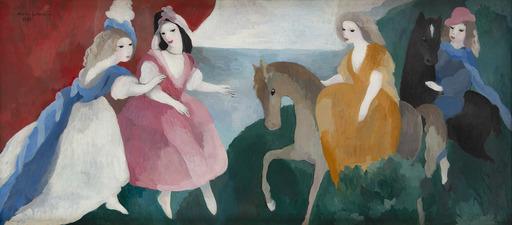 Marie LAURENCIN - Pintura - La réception des jeunes filles