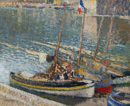亨利•马丁 - 绘画 - Barques à Collioure