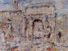 Luigi MANTOVANI - Peinture - Arco Settimio Severo, Roma