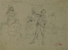 Jan David COL - Drawing-Watercolor - Three Sketches by David Col, 19th Century