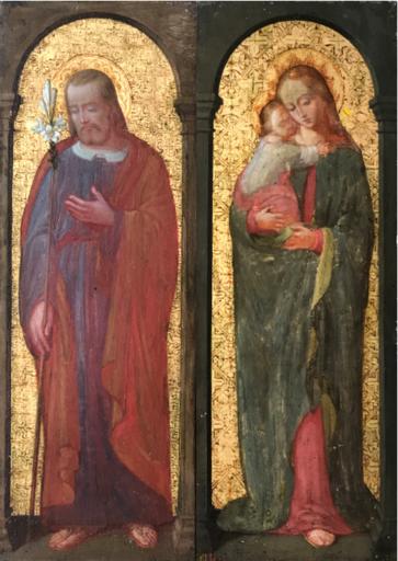Henri LEHMANN - 绘画 - The holy family – Mary & the Christ – Saint Joseph (2)