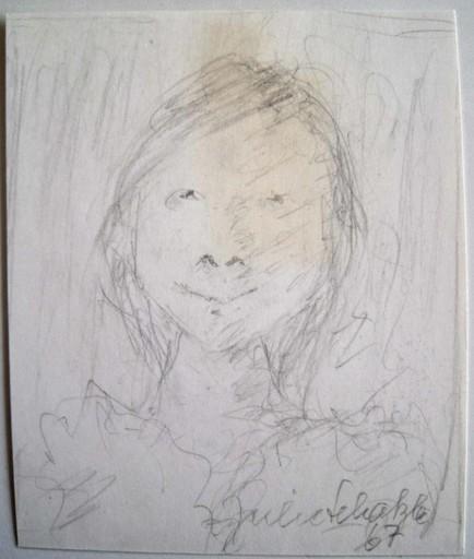 Julie SCHAETZLE - Dibujo Acuarela - Portrait fillette