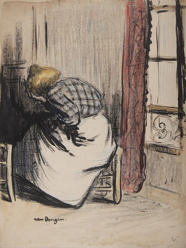 Kees VAN DONGEN - Drawing-Watercolor - Premier fantôme, Le Mépris