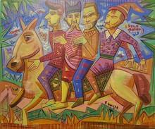 Ronaldo ENRIGHT - Painting - los cuatros