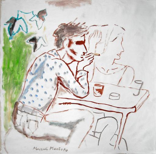 Manuel MONTERO - Peinture - A la terrasse III
