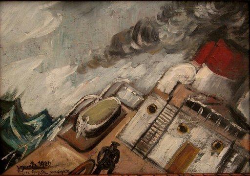 """Jean DORVILLE - Painting - """"LE MAL DE MER"""""""